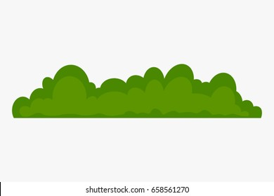 Stylized bush icon in a flat style. vector illustration