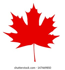 Stylized Canadian flag. EPS10 vector illustration.
