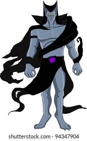 Stylized character design of an evil villain