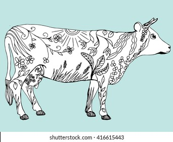 Graphic Cow Stock Vectors, Images & Vector Art   Shutterstock