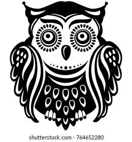 Stylized decorated owl
