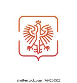 stylized emblem of the Polish eagle