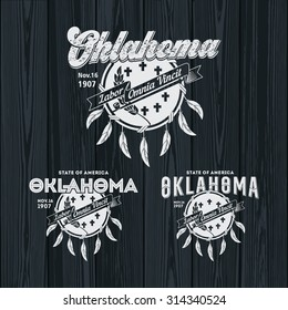 Stylized emblem of the State Oklahoma, black