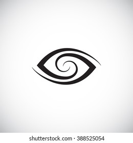 Stylized eye symbol. Spiral lines forming a loop. Vector logo design template.