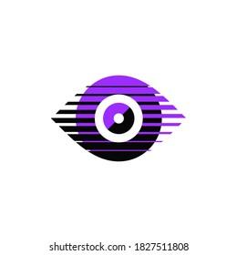 Stylized eye vector icon design.