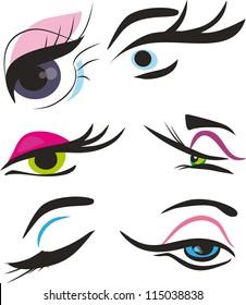 Stylized eye-lash icon such logo,