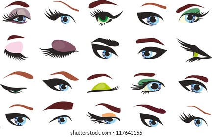 Stylized eye-lash icon such logo