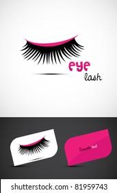 Stylized eye-lash icon such logo, EPS10 vector.