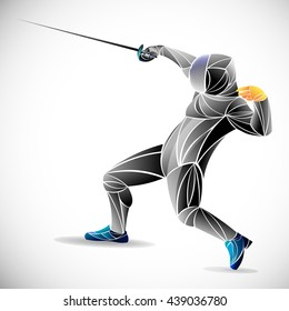 stylized fencing sport