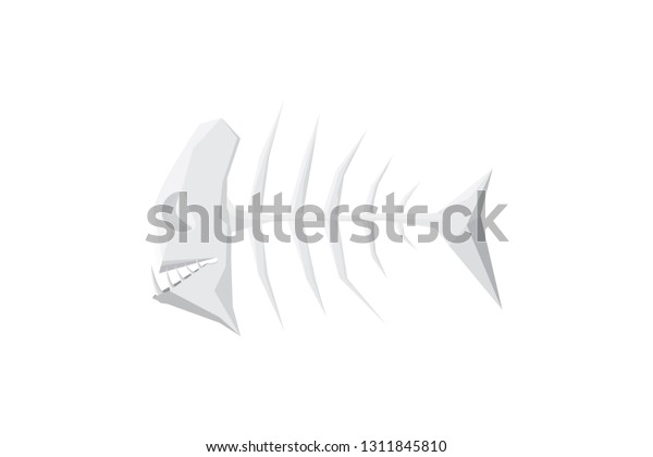 Stylized fishbone monster