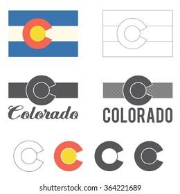 Stylized flag of Colorado