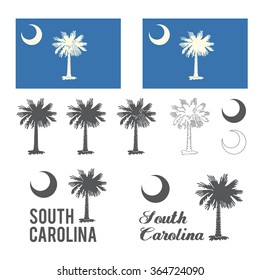 Stylized flag of South Carolina