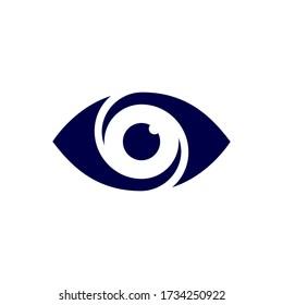 Stylized flat design eye vector icon.