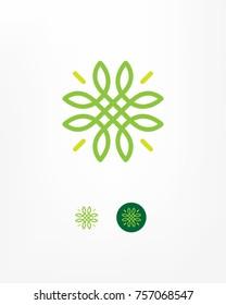 Stylized flower symbol.
