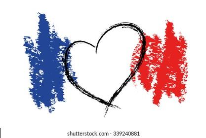 Stylized French Flag