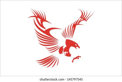 Stylized Great Red Eagle