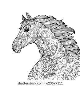 Horses Coloring Book Images, Stock Photos & Vectors ...