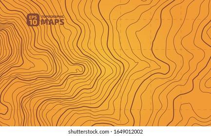 Die stilisierte Höhe der topographischen Kontur in Linien und Konturen. Das Konzept eines bedingten geografischen Programms und des Geländewegs. Vektorillustration.