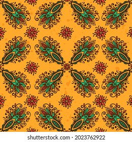Stylized with henna tattoo decorative pattern for decorating covers book, notebook, casket, postcard and folder. Mandala, Lotus flower and border in mehndi style. Frame in the eastern tradition.
