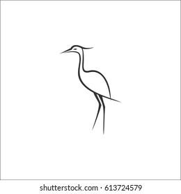 Stylized heron