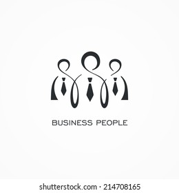 Stylized icon of business people.