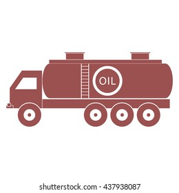 Stylized icon of the oil tanker/fuel tanker on a white background