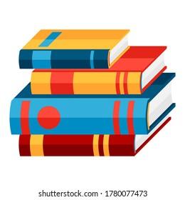 Stylized illustration of books. School or educational item.