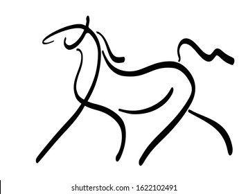Stylized image of an arabian horse