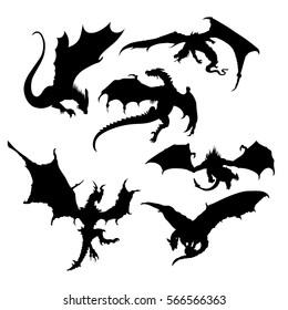 dragon silhouette images stock photos vectors shutterstock