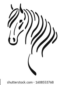 Stylized image of a horse's head