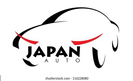 stylized image of Japanese car