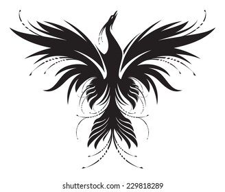 Stylized image of Phoenix in black and white