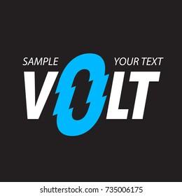 Stylized inscription VOLT. Logo design. Vector illustration.