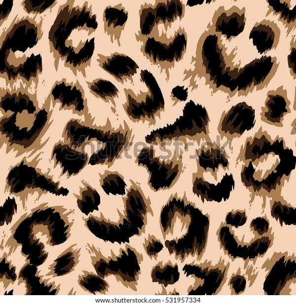 Stylized Leopard Print Wallpaper Vector Repeat Stock Vector
