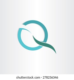 stylized letter q business symbol design