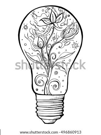 Stylized Light Bulb Lamp Abstract Electrics Stock Vector Royalty