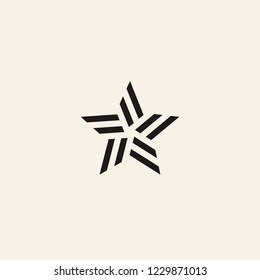 Stylized linear shape star logo design template. Modern star abstact vector illustration with lines. Vector graphic fashion symbol. Award success logotype concept icon.