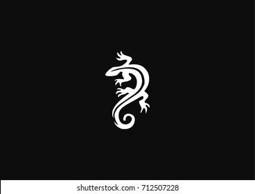 Stylized lizard icon logo