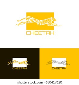 Stylized Logo cheetah. Vector illustration EPS10