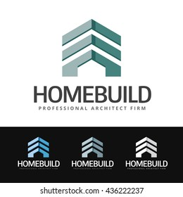 Stylized logo of a mix of building and house. This logo is suitable for many purpose as : real estate firm, renovation company, contractor, residential construction and more.