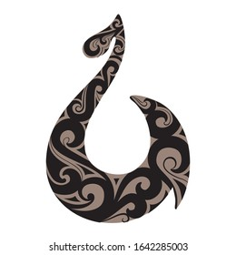 Stylized Maori symbol represent good luck and safe travel across water