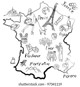 Map Of France Drawing.France Map Draw Images Stock Photos Vectors Shutterstock