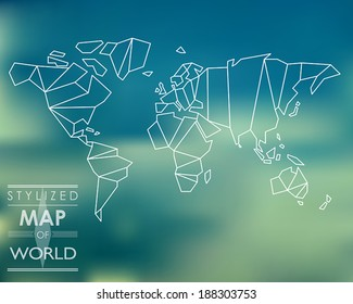 World map vector stylized images stock photos vectors shutterstock stylized map of world world map concept gumiabroncs Image collections