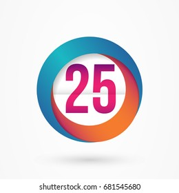 stylized number 25 design template