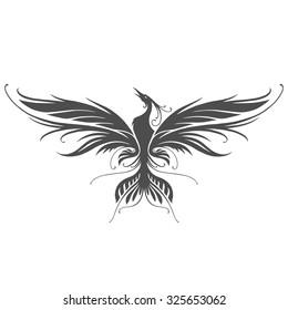 Stylized phoenix silhouette