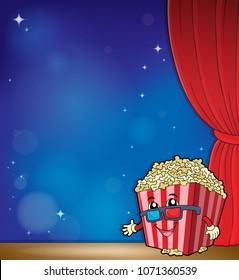 Stylized popcorn theme image 4 - eps10 vector illustration.