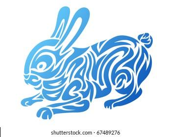 Stylized rabbit - Chinese horoscopes symbol for 2011 year