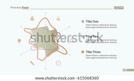 stylized radar chart slide template stock vector royalty free