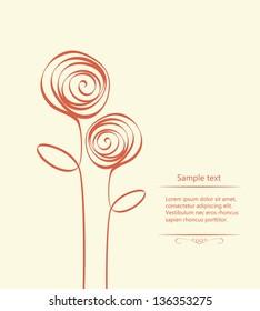 Stylized roses. Vector illustration