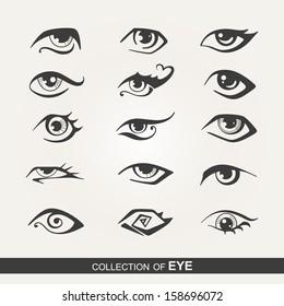 Stylized set of eyes